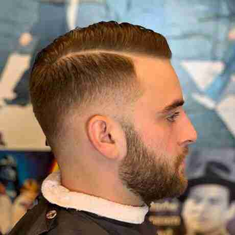 Comb Over Part Low Fade Mens Haircut Judes Barber Shop