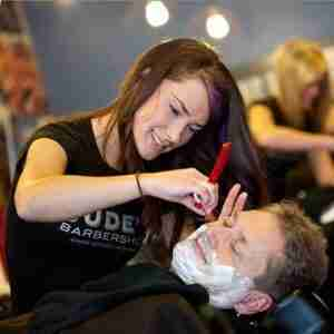 Men's Straight Razor Face Shave Judes Barber Shop