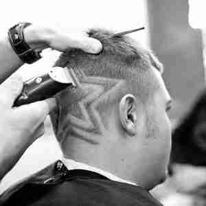 Mens Haircut & Design Clipper star Judes Barber Shop
