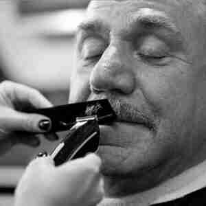 Mustache Trim Older Man Judes Barber Shop