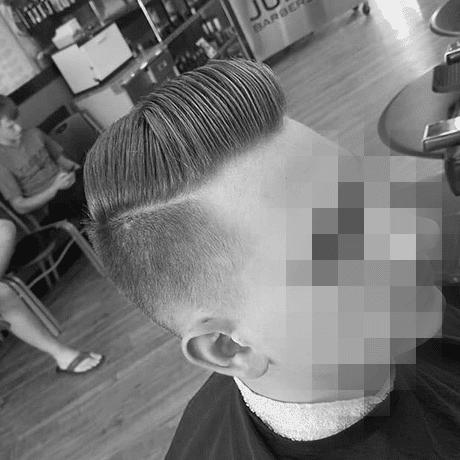 Low Fade Pompadour Mens Haircut Judes Barber Shop
