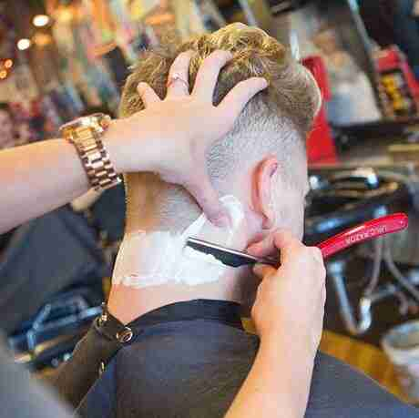 Straight Razor Neck Cleanup Judes Barber Shop