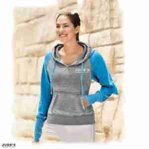 Unisex-Blue-Gray-Pull-Over-Hoodie