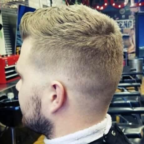 Men's Crew Cut Fade Bread Trim Judes Barber Shop Standale
