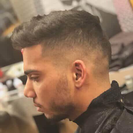 Textured Top Taper Medium Fade Mens Haircut Judes Barber Shop West Main Kalamazoo